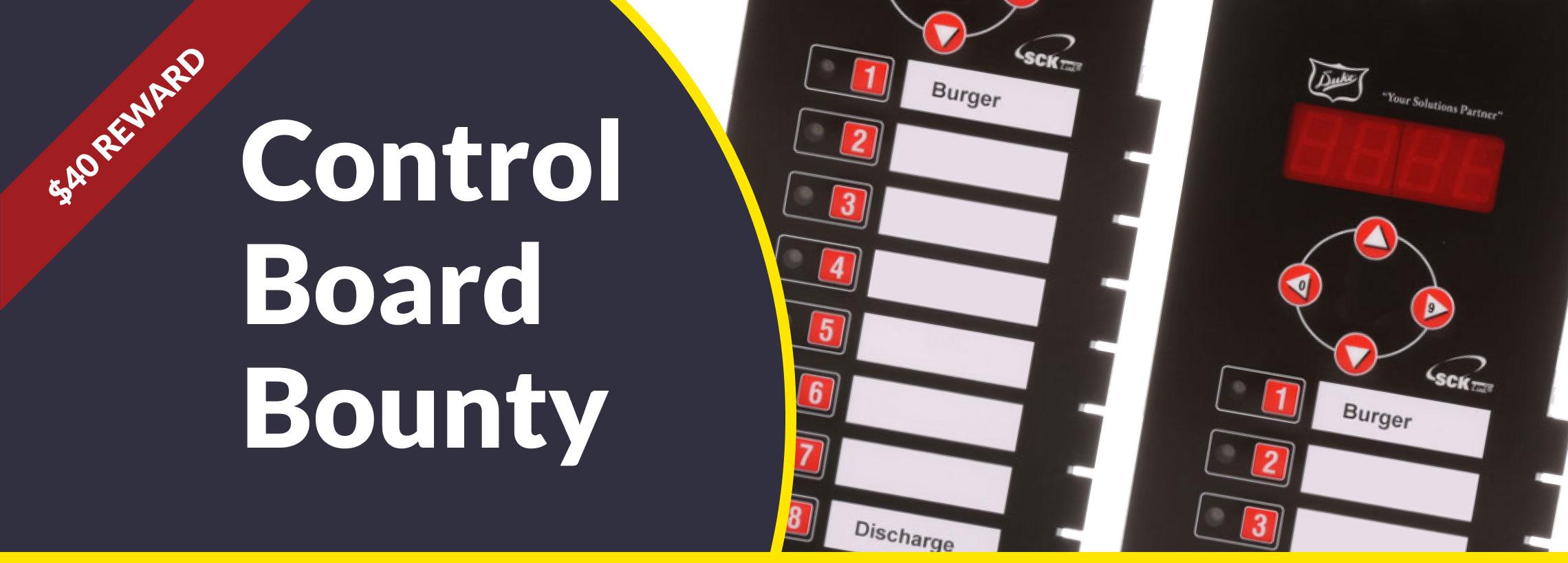 Control Board Bounty
