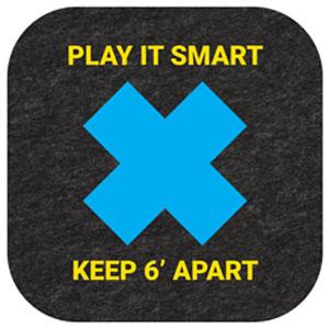 Play it Smart, Keep 6' Apart Mat