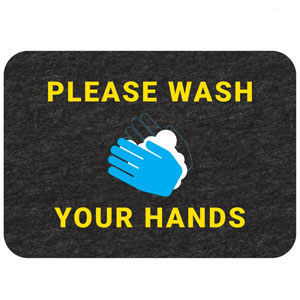 Hand Washing Floor Sign